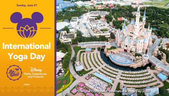 Cast members celebrate International Yoga Day at Shanghai Disney Resort
