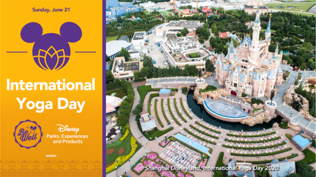 Cast members celebrate International Yoga Day at Shanghai Disney Resort