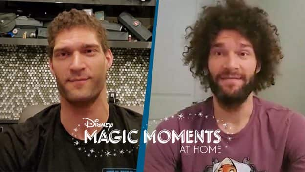 World #DisneyMagicMoments: NBA Stars Brook and Robin Lopez Share