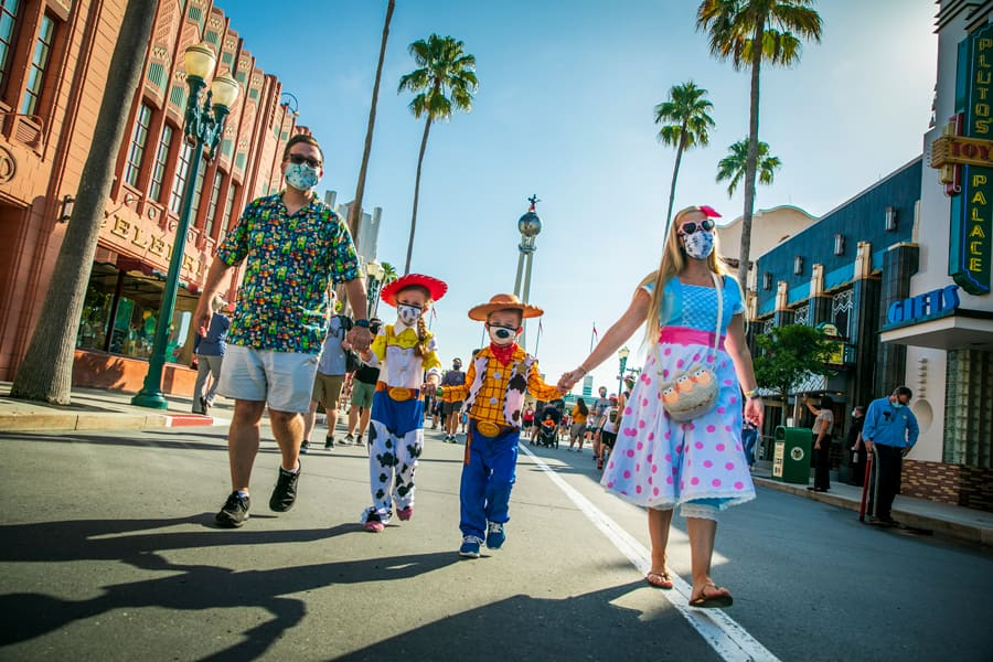 Guests walk through Disney's Hollywood Studios
