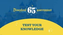 Disneyland Park 65th Anniversary: Test Your Knowledge