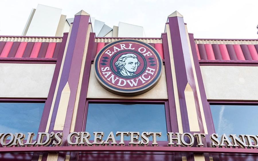 Welcome Back to Downtown Disney District, Phased Reopening Begins Today at Disneyland Resort Earl of Sandwich exterior -Downtown Disney District at Disneyland Resort