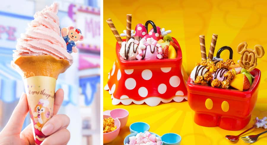 Ice Cream Treats from Hong Kong Disneyland