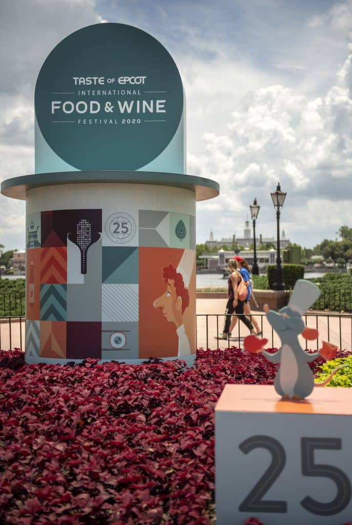 2020 Taste of EPCOT International Food & Wine Festival display