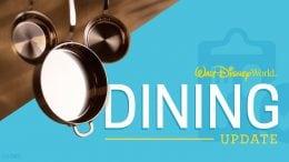 Walt Disney World Dining update graphic