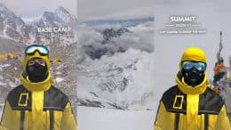 Ascend Everest with Nat Geo's newest AR experience: Basecamp 17,000 ft, Summit 29,029 ft - Flip camera to enjoy the view!