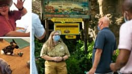 Cast Member who created Safari video meets Bob Chapek at Disney's Animal Kingdom