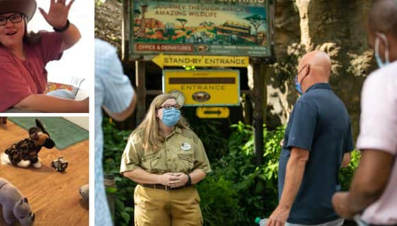 Cast Member who created Safari video meets Bob Chapek at Disney's Animal Kingdom