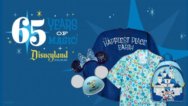 Disneyland Park 65th Anniversary Merchandise Collection