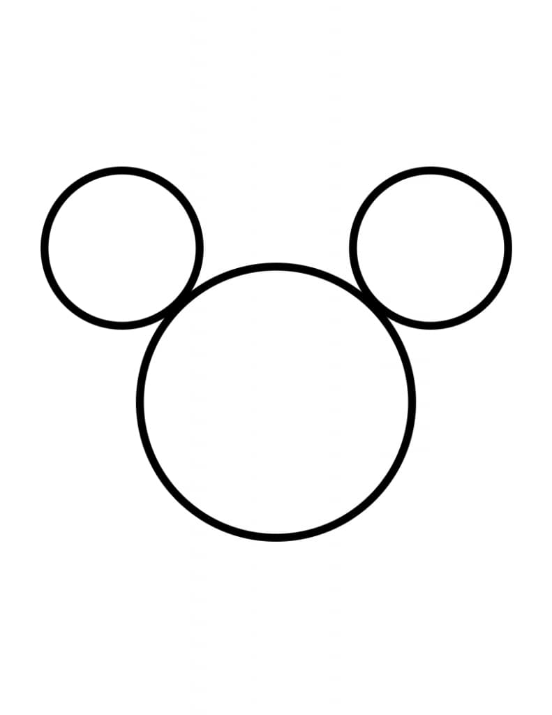 Mickey Mouse stencil