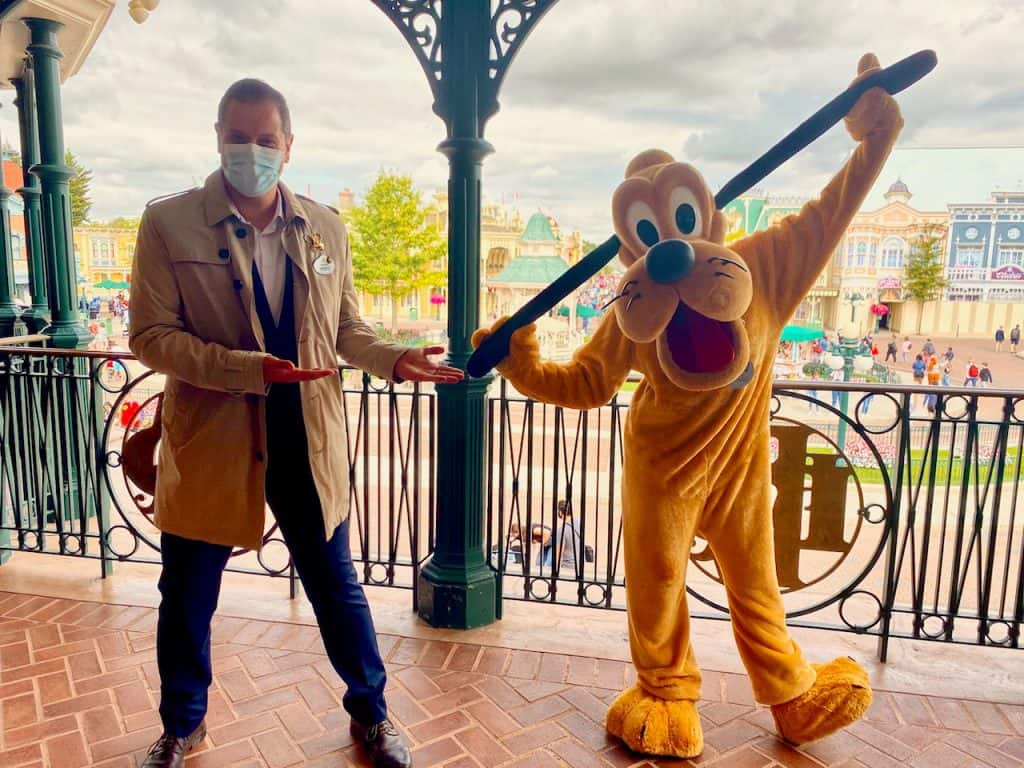 Disneyland Paris Ambassador Giona Prevete and Pluto