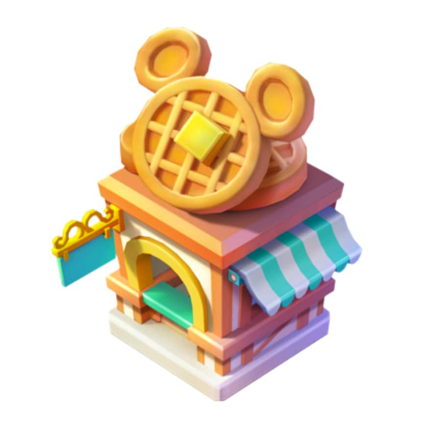 1x Mickey Waffles Stand - Disney Magic Kingdoms mobile game