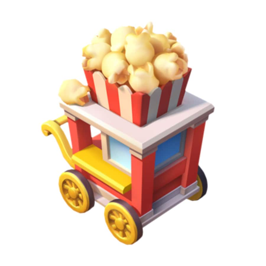 1x Popcorn Cart - Disney Magic Kingdoms mobile game
