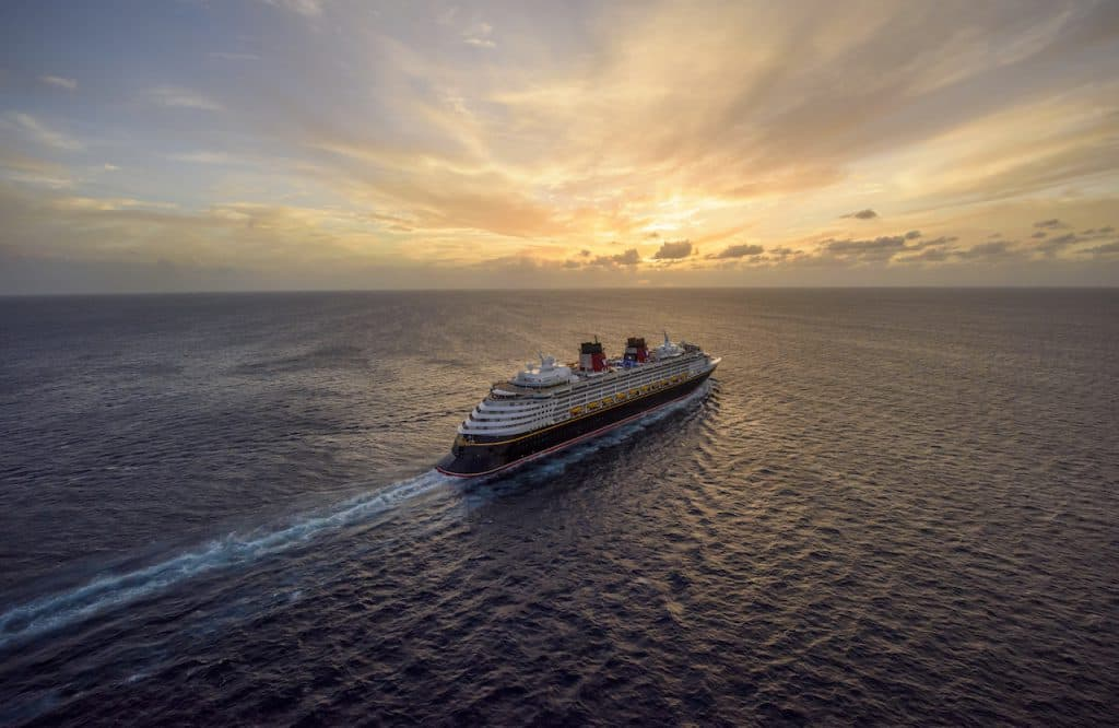 Disney Wonder at sunrise