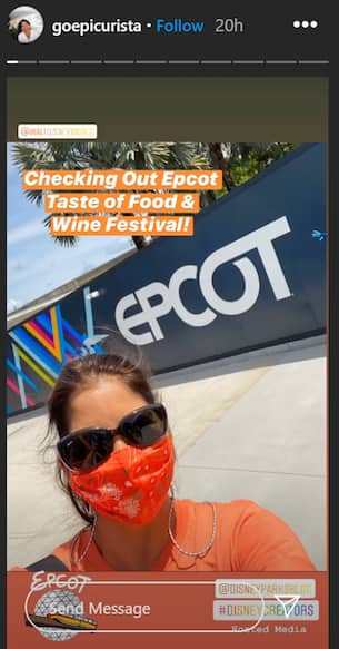Instagram user goepicurista at the Taste of EPCOT International Food & Wine Fesitval
