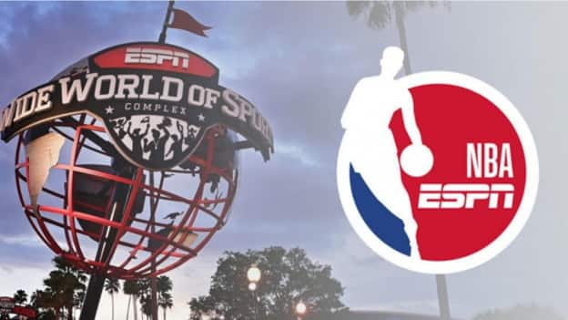 graphic of ESPN Wide World of Sports and NBA