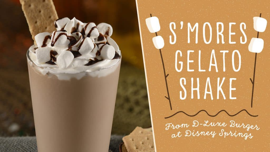 S'mores Gelato Shake from D-Luxe Burger at Disney Springs
