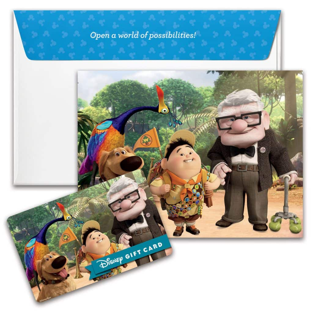 "New Disney Gift Card design featuring ""UP"""