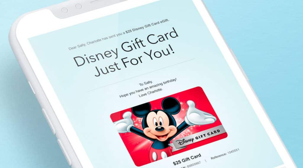 Electronic Disney Gift Card