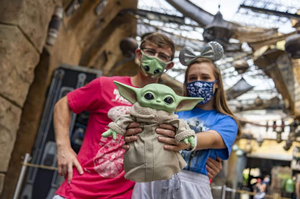 Guests at Star Wars: Galaxy's Edge at Disney's Hollywood Studios