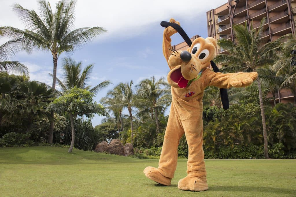 Pluto at Aulani, a Disney Resort & Spa