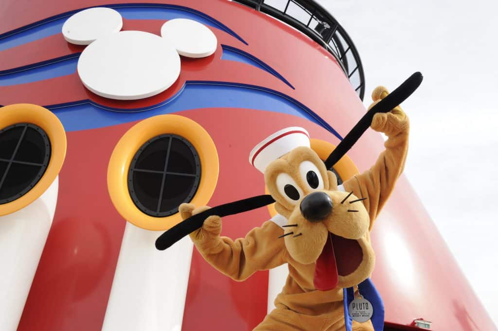 Pluto on a Disney Cruise Line ship