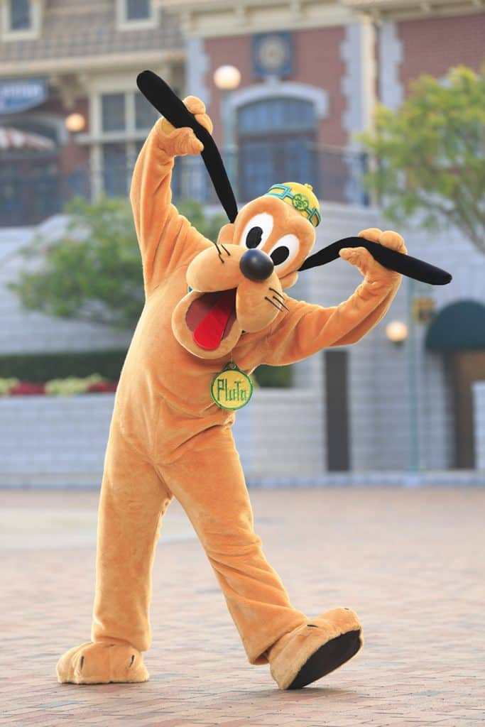 Pluto at Hong Kong Disneyland