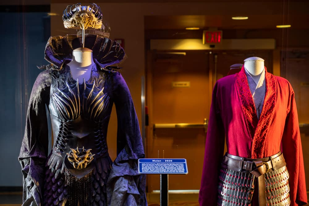 Mulan Costumes And Props On Display At Disney World Inside The Magic