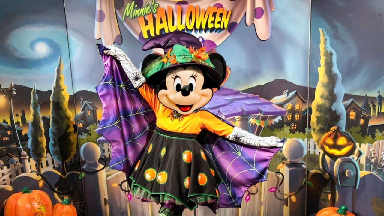 Minnie Mouse will appear as a happy witch.