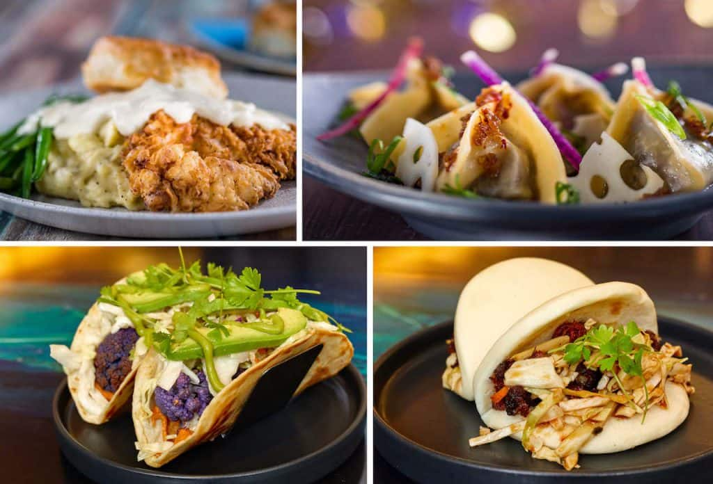 Collage of lunch items from Walt Disney World Resort Hotels