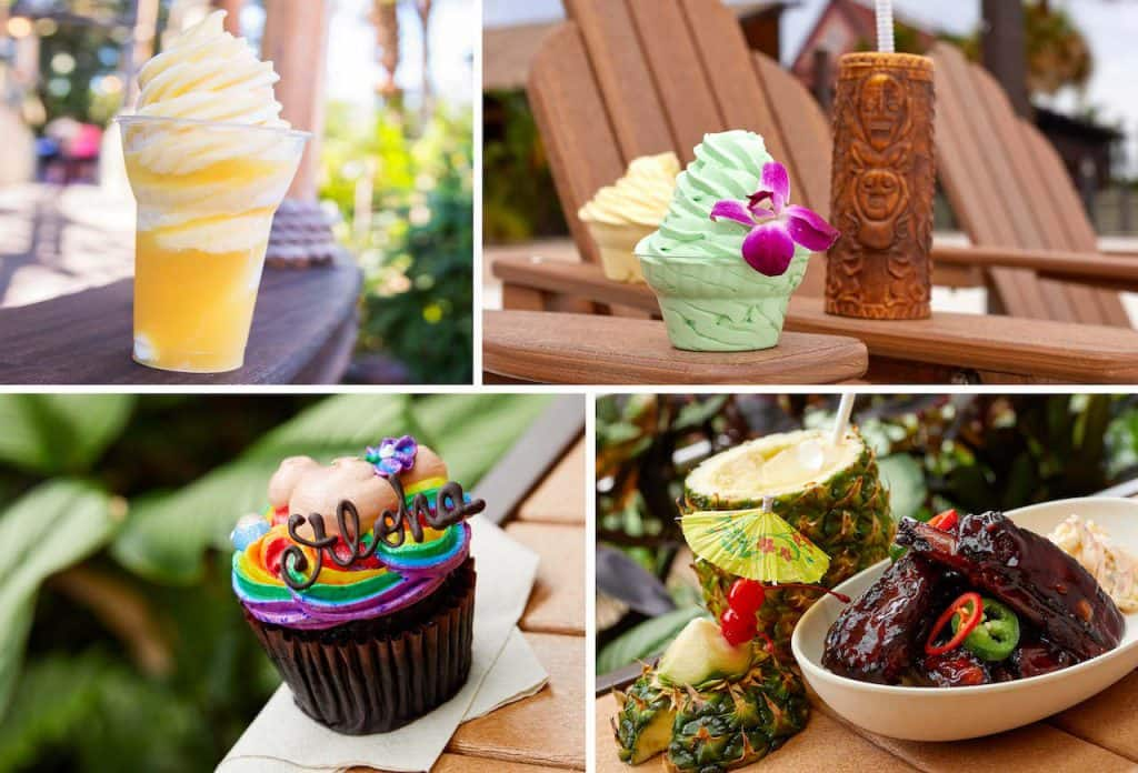 Collage of sweet treats from Walt Disney World Resort Hotels