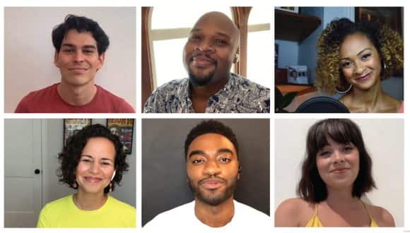 "Disney on Broadway stars Jelani Alladin Krysta Rodriguez, Mandy Gonzalez, Rodney Ingram, Michael James Scott and Syndee Winters sing ""Go the Distance"" from ""Hercules"""