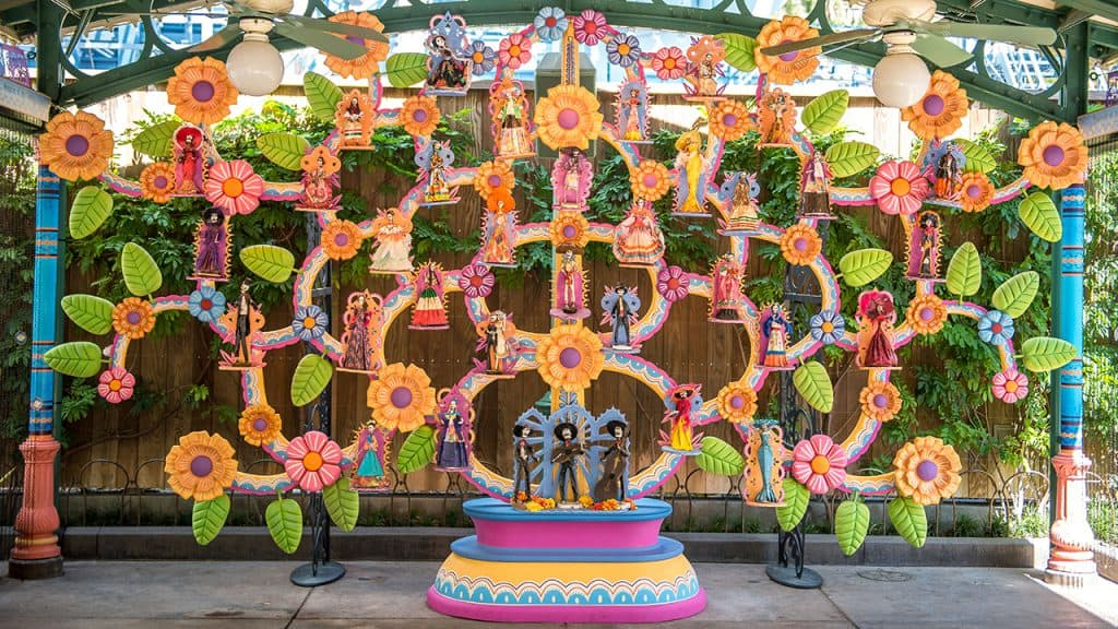 """Coco"" inspired Plaza de la Familia at Disney's California Adventure park"