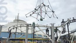 TRON Lightcycle / Run canopy installation at Magic Kingdom Park