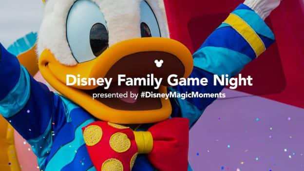 Disney Family Game Night image with Donald Duck