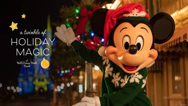 A Twinkle of Holiday Magic at Walt Disney World Resort - Mickey Mouse at Magic Kingdom Park