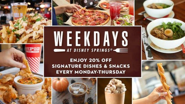 Weekdays at Disney Springs – Special Dining Offers for the Fall Season!