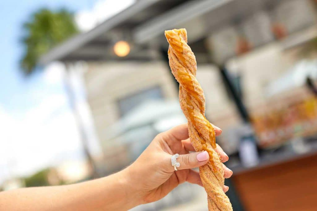 Salted Caramel Classic Churro from Sunshine Churros for Weekday Delights at Disney Springs for the Fall 2020 Season