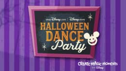 shopDisney.com and Disney Store - Halloween Dance Party Logo - Create Magic Moments with Disney