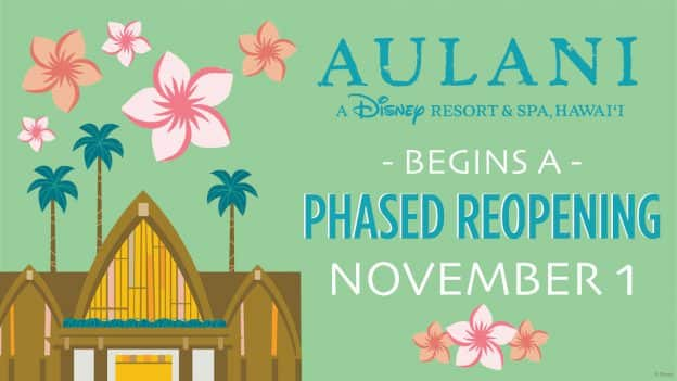 Aulani Resort reopening graphic