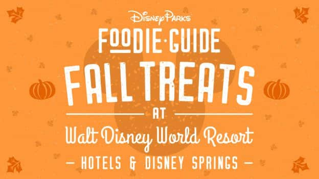 Fall treats at Walt Disney World Resort hotels and Disney Springs graphic