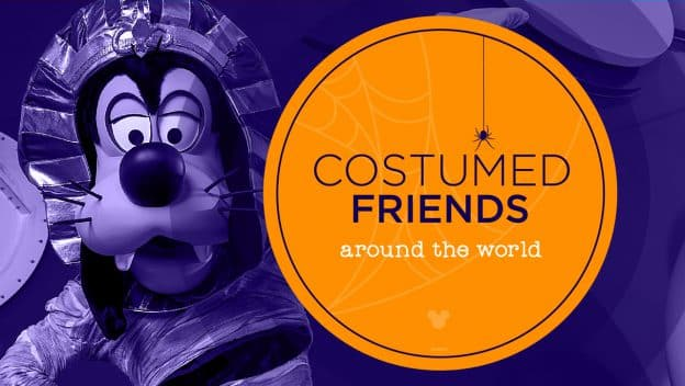 Costumed Friends around the world featuring Goofy dressed as a mummy