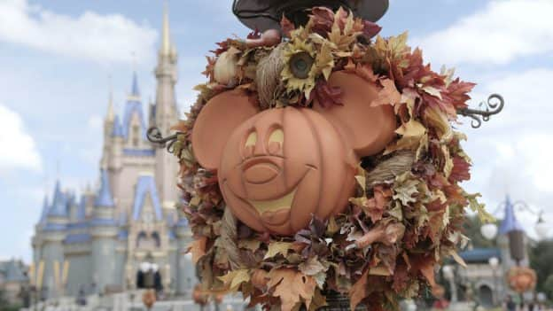 Halloween decoration in Magic Kingdom Park