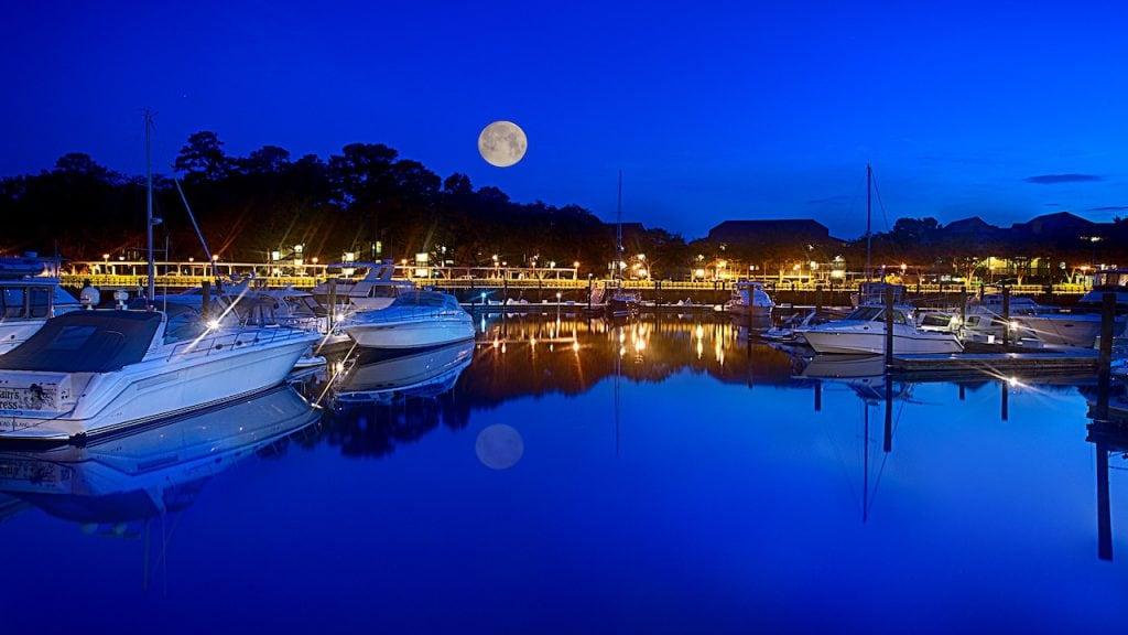 Moon rise of Disney's Hilton Head Resort