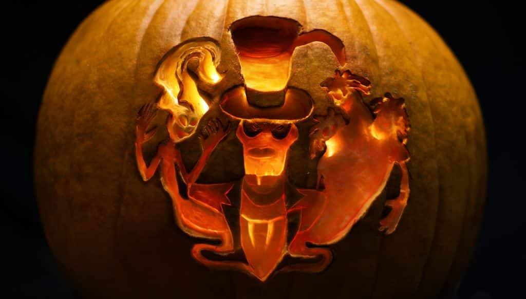 Pumpkin carving of Dr. Facilier