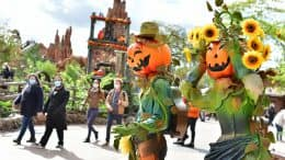 Halloween celebration at Disneyland Paris