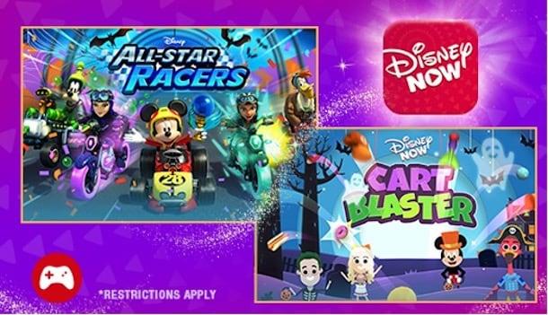 Collage of Halloween treats available on DisneyNOW