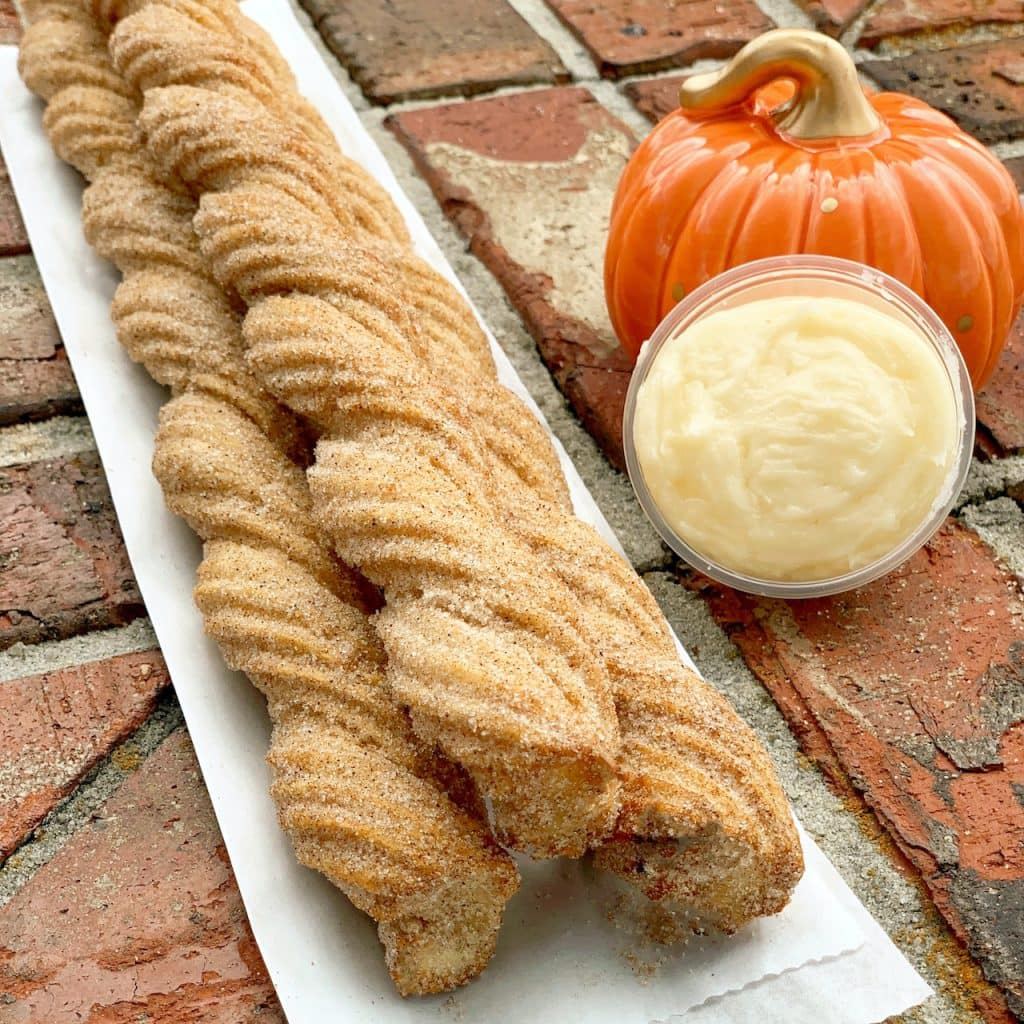 Pumpkin Spice Churro from California Churro at the Downtown Disney District at Disneyland Resort