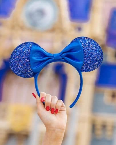 Wishes Come True Blue Minnie Mouse Ear headband