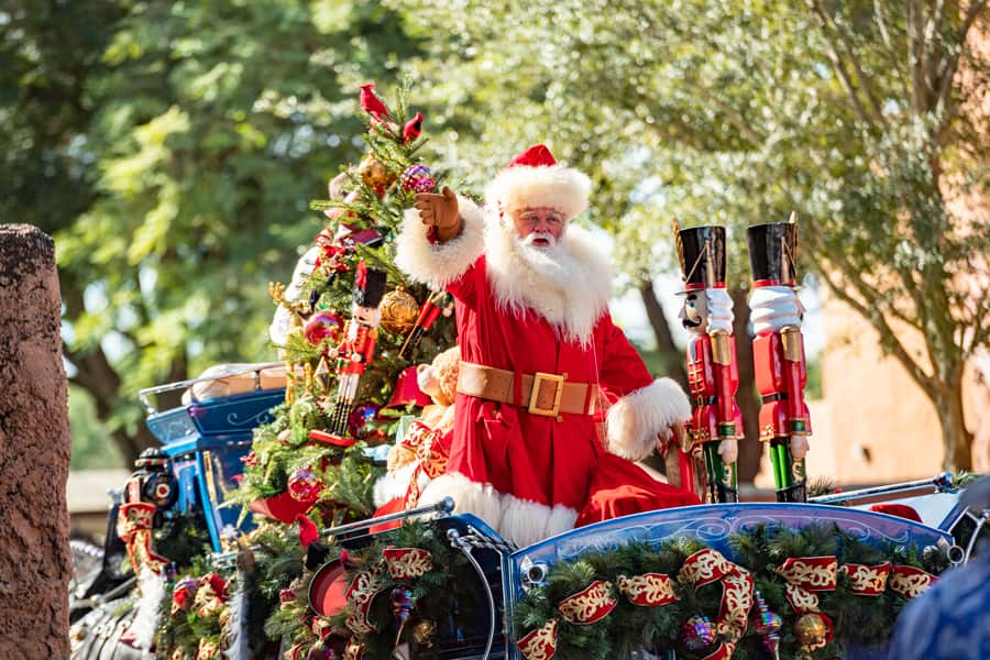 Santa at EPCOT during Taste of EPCOT International Festival of the Holidays
